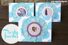 Image result for frozen diy invitations