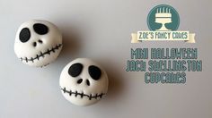 Halloween cake and cupcake ideas. In this video I show you how to make Halloween Jack Skellington cupcakes (Tim Burtons Nightmare before christmas movie ). Y...