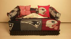 NFL New England Patriots Licensed Fabric Tissue Box by CLASSECHAOS, $19.95