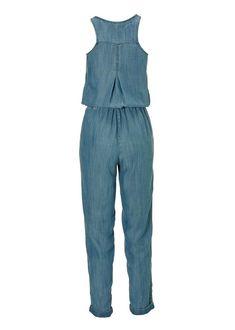 Summer Essentials Tencel Jumpsuit | Boston Proper Ankle Length Pants, Boston Proper, Laid Back Style, Summer Essentials, Light Denim, White Sneakers, Jumpsuit, Dresses, Fashion