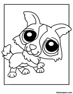 Printable Littlest Pet Shop Puppy Coloring Pages - Printable Coloring Pages For Kids