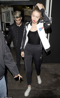 Night on the town: Gigi Hadid and boyfriend Zayn Malik were seen leaving The Nice Guy in West Hollywood on Tuesday evening