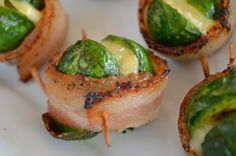 Bacon-Wrapped Brussels Sprouts with Dubliner Cheese