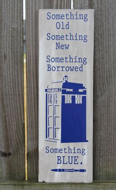 Doctor Dr. Who Something Old NEW Borrowed BLUE by doodlesbynoodles