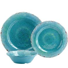 I really really want these for the cabin, mixed with the yellow ones!--Carmelo Melamine Dinnerware - Turquoise