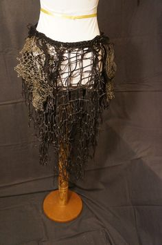 Netting hippie gyspsy mermaid sea creatrure silky bohemian organic rustic burningman steampunk gothic fashion renaissance bustle wrap skirt