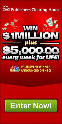 PCH Win $1Million PLUS $5,000 a Week for Life!wow