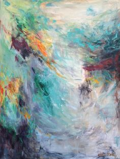 Abstract Art by Kellie Morley | In His Hands 36x48
