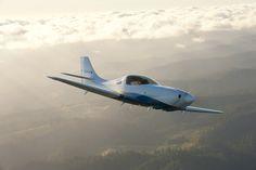 Lancair Legacy in flight.