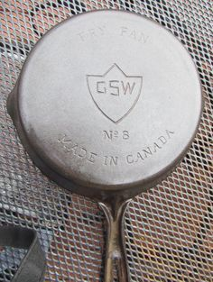 Antique GSW No. 8 Cast Iron Frying Fry Pan Skillet Canada - General Steel Wares   g56