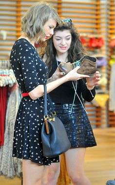 Taylor Swift and Lorde engage in a little retail therapy. How cute is Taylor's dress?!