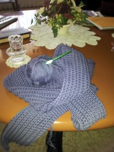 (4) Name: 'Crocheting : Chunky Ribbed Scarf