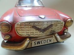RARE 1960 VOLVO 1800S COUPE JAPAN TIN TOY FRICTION CAR SIMON TEMPLAR The Saint