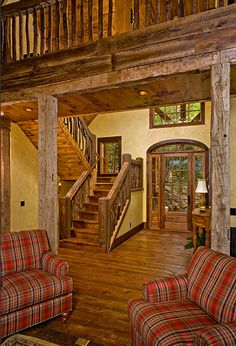 Reclaimed barn and barnwood flooring...beautiful floors!