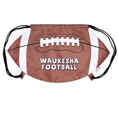 Thinking Football? Exciting and Fun Football Giveaway! Promotional GameTime Football Drawstring Backpack | Advertising Drawstring Backpacks | Customized Drawstring Backpacks