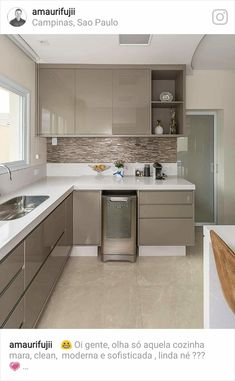 3 Simple Improvement Ideas For Your Kitchen Space – Home Dcorz Kitchen Room Design, Kitchen Cabinet Design, Home Decor Kitchen, Kitchen Furniture, Kitchen Interior, Home Kitchens, Kitchen Ideas, Kitchen Tall Units, Kitchen Cabinets And Cupboards
