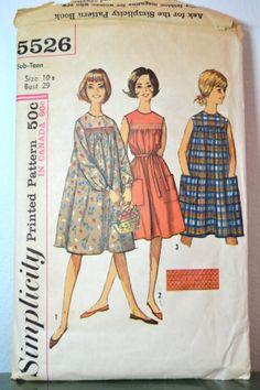 1960s Vintage Simplicity Pattern 5526 Sub by TabbysVintageShop, $10.00