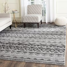 Shop for Safavieh Adirondack Ivory/ Charcoal Rug (6' x 9'). Get free shipping at Overstock.com - Your Online Home Decor Outlet Store! Get 5% in rewards with Club O!