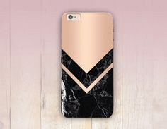 Impression de marbre rose Gold Phone Case - iPhone 6 cas - iPhone 5 - iPhone 4 - Samsung S4 affaire - 5C - Tough Case iPhone - Matte cas