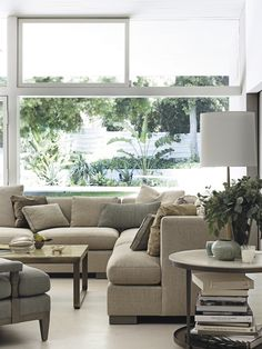 Living room styled by Barbara Barry - featuring the Social Scene Sectional