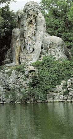 Colosso dell'Appennino in the Parco Mediceo di Pratolin near Florence, Italy • sculptor, Giambologna (1580)