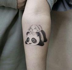 Panda Tattoos, Bunny Tattoos, Rabbit Tattoos, Cool Wrist Tattoos, Body Art Tattoos, Tatoos, Mini Tattoos, Small Tattoos, Arm Band Tattoo For Women