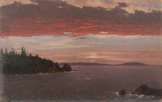 frederic church | 1850-55 Schoodic Peninsula from Mount Desert at Sunrise oil on ...