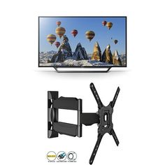 From 259.00:Sony Bravia Kdl32wd603 32 Inch Hd Ready Smart Tv (2016 Model)  Invision Ultra Slim Tilt Swivel Tv Wall Bracket Mount - For 24 - 55 Inch Tvs - Now Includes 1.8m Hdmi Cable