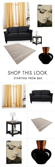 """""""Untitled #145"""" by denise-ealy on Polyvore featuring interior, interiors, interior design, home, home decor, interior decorating, West Elm, Altra and iCanvas"""
