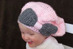 Crocheted toddler tam by EllaGracesPlace on Etsy, $25.00