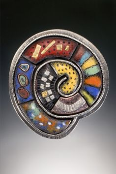 Susan Buckley - silver, gold, torch-fired vitreous enamels