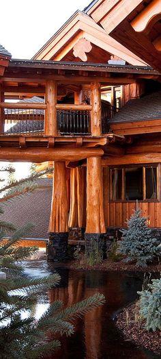 Log Home Exterior #loghomes #logcabins #loghomeliving #logcabinhomes