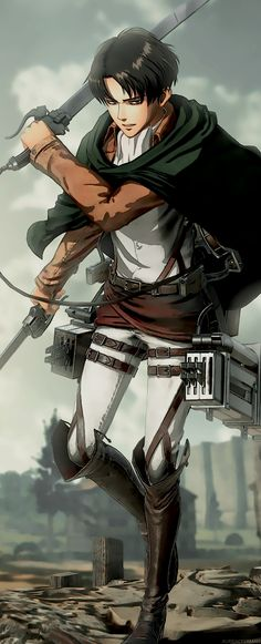 """aurieackerman: """"I made a quick edit of the Levi visual from the KT game :3 """""""