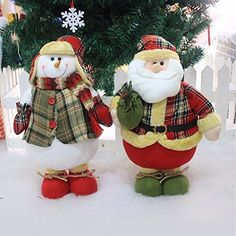 Saver Large Xmas Christmas Santa Clau Snowman Ornament Christmas Tree Desk Ornament *** To view further for this item, visit the image link.