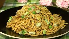 the chew | Recipe  | Michael Symon's Spring Pasta With Chive Breadcrumbs