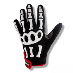 SPAKCT Bike Bicycle Riding Cycle Long Finger Full Finger Cycling Riding Racing Gloves - Skeleton XS-2XL #Affiliate
