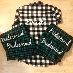 Welcome to Ambitious Styles Shop! -- Your One Stop Shop For Premium Bridal Clothing! -- PLEASE READ BEFORE ORDERING I don't know about you but I am a flannel FREAK! This listing is NOT Buffalo plaid this is our smaller checkered as shown in our customer's photo above if you would like b