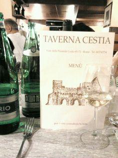 Ristorante Taverna Cestia nel Roma, Lazio