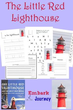 Little Red Lighthouse Read-Aloud Activities and FREE Printable Homeschool Kindergarten, Kindergarten Reading, Homeschooling, Hands On Activities, Book Activities, Preschool Activities, Little Red Lighthouse, Lighthouse Keeper, Five In A Row