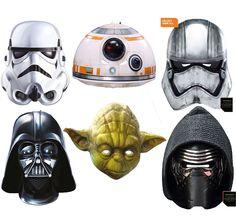 Details zu Vader Mask Star Wars Characters Yoda Kylo Ren Storm Fancy Dress  Card Disney Film b500eea64b42a