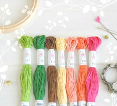 "Embroidery Floss ""Flowerbox Pallete"" - 7 Skeins Pack - Embroidery Thread by Sublime Floss - Sublime Stitching - Cotton Embroidery Floss Embroidery Scissors, Rose Embroidery, Cross Stitch Embroidery, Friendship Bracelets Designs, Felt Sheets, Bee Pollen, Crochet Quilt, Chunky Wool, Felt Ball"