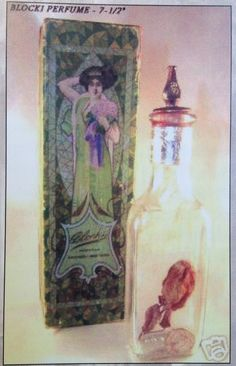 Blocki Empress Rose Toilet Water circa 1900. Photo from article in Perfume Bottle Quarterly, Spring 2006