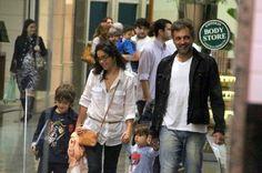 Domingos Montagner, a esposa e dois dos três filhos