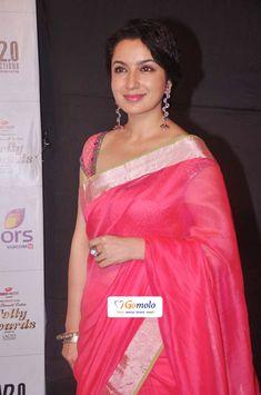 Bollywood Actress Tisca Chopra in a gorgeous Indian Saree  Indian Telly Awards 2012 in Mumbai