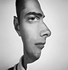 Photographer Splices Head and Side Shots Together to Create Profile Optical Illusion. Trippy. {no instructions, just an idea to try in photoshop.)