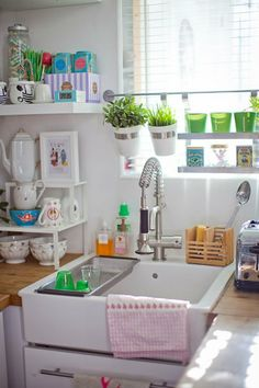 Window Garden: Use the hanging Grundtal wall storage to put plants right above your kitchen sink. Think how good a few herbs would smell while you're doing dishes. (via Design Sponge)