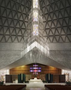 Photography: Mid-Century Modern Churches by Fabrice Fouillet,Pietro Belluschi's Church of Mary of the Assumption, San Francisco, 1971. Photo © Fabrice Fouillet