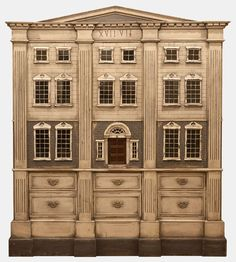 A Very Large Georgian Style Dolls House | From a unique collection of antique and modern models and miniatures at http://www.1stdibs.com/furniture/more-furniture-collectibles/models-miniatures/  .....Rick Maccione-Dollhouse Builder www.dollhousemansions.com