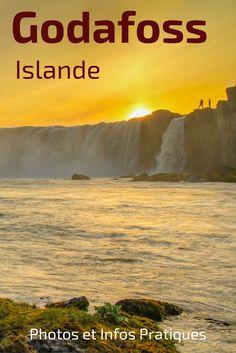 Découvrez les chutes de  Godafoss Islande, la cascade des dieux au Nord du pays. Facilement accessible, cette cascade est élégante en forme de fer-à-cheval. Il est possible de l'admirer depuis les 2 berges. Photos et infos pratiques pour planifier votre visite dans l'article http://zigzagvoyages.fr/cascade-godafoss-islande/