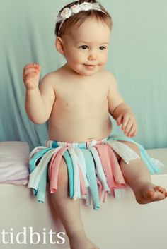 """This was one of those projects that when the vision comes, you drop everything to make it because you can't wait to see if it will work out like it is in your head.  Good thing it didn't take me too long. The baby's was begging for attention. This """"T-Shirt Tutu"""" was made entirely...Read More »"""